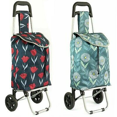 £9.99 • Buy Lightweight Wheeled Shopping Trolley Push Cart Luggage Bag With Wheels