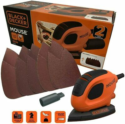 £24.99 • Buy BLACK+DECKER BEW230-GB 55 W Detail Mouse Electric Sander With 6 Sanding Sheets