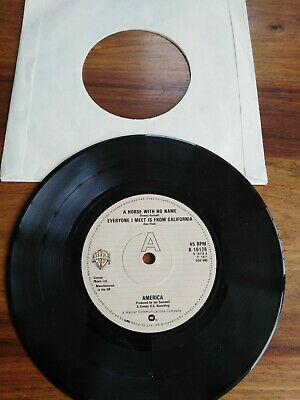 £2.99 • Buy 7inch Single Record America Horse With No Name Good Condition See Pics