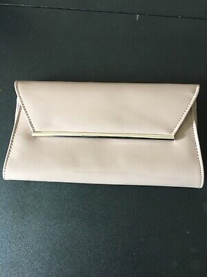 £1.10 • Buy Nude Clutch Bag With Silver Chain Handle.