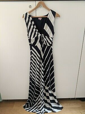 £6.50 • Buy PHASE EIGHT Blue & Cream Twist Knot Maxi Dress Size 16 Excellent Condition