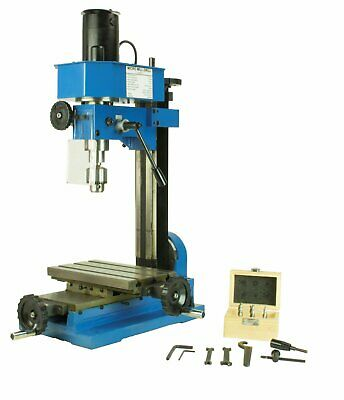 $999.99 • Buy Mini Metal Mill Drilling Machine Press BenchTop 3/8 Drill Capacity With Cutters