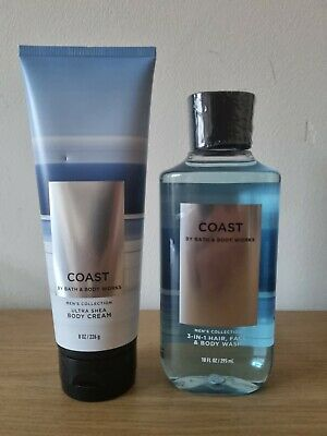 £20.99 • Buy Bath And Body Works Men's Collection Coast Body Cream And Body Wash Set
