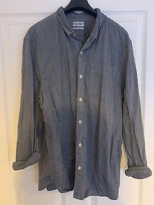 £15 • Buy All Saints Mens Denim Look Shirt, Size Large, In Great Condition From All Saints