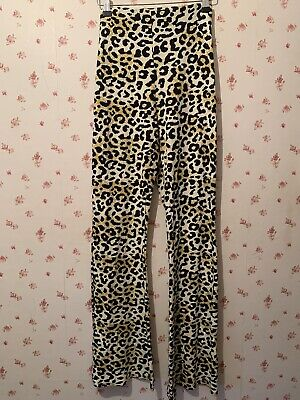 £3 • Buy Topshop Leopard Print Flared Trousers - Size 14