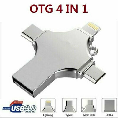 £7.66 • Buy 4 IN 1 OTG USB 3.0 Type C Flash Drive Memory Stick For IPhone IPad Android 1TB