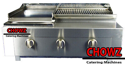 £445 • Buy 3 Burner Gas Charcoal Bbq Grill / Char-grill Heavy Duty For Commercial Use