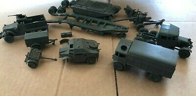 £11 • Buy Collection Of Airfix Kit Built OO/HO Army Model Vehicles / Guns For Spares