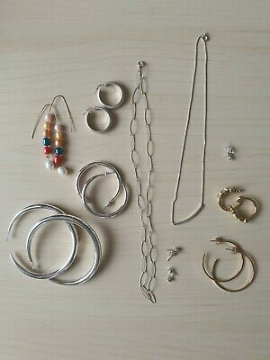 £9.99 • Buy 925 Silver And Costume Jewellery Job Lot 11 Items