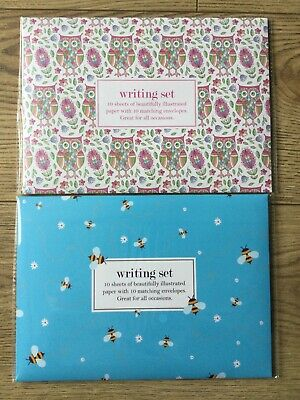 £3.95 • Buy Paper Place Writing Sets ~ Bee & Owl Design ~ BNIP ~ 2 Sets