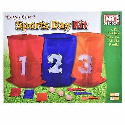 £14.60 • Buy The Magic Toy Shop 3 In 1 Sports Day Kit Sack Race Egg And Spoon Race Set Bean