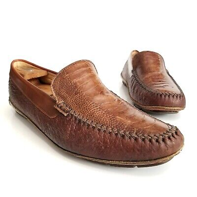 £32.41 • Buy Moreschi Men's Driving Shoes Mocs Loafers Brown Ostrich? Leather Casual Size 10