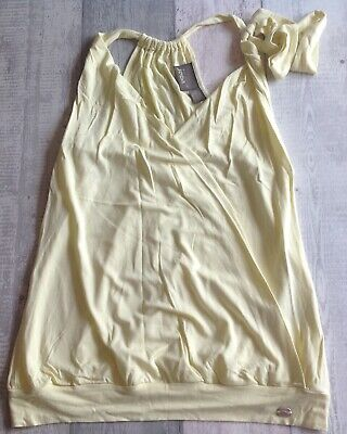 £4.50 • Buy Vintage Yellow Casual / Clubbing Top Y2k 90s 00s 2000s Size 3 UK 12 Ted Baker