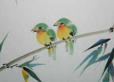£57.88 • Buy Charlotte C. Fung Miller Chinese Artist Water Color Yellow Warbler Nightingale
