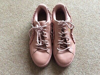 AU18.43 • Buy Women's Clothes. Puma Pink Frilled Top Flat Trainers. Size 6