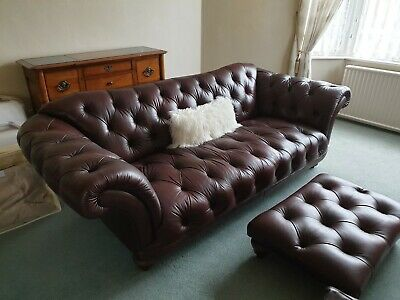 £2354 • Buy Richmond Chesterfield Sofa, Buttoned Back Wing Chair, Buttoned Top Footstool