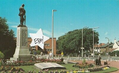 £0.99 • Buy Thornton Cleveleys War Memorial And Library Vintage Postcard