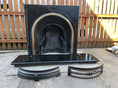 £300 • Buy Black Marble Fireplace Including Hearth And Cast Iron Victorian Style Fire