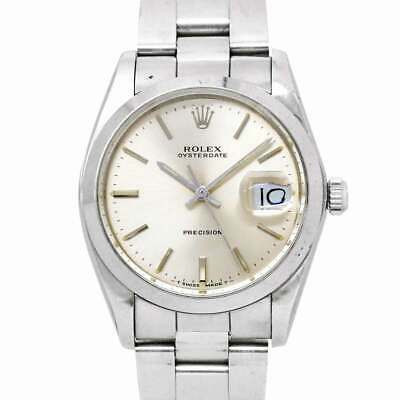 $ CDN3461.84 • Buy ROLEX Oyster Date Precision 6694 Hand Winding Silver Dial Mens Watch 90128543