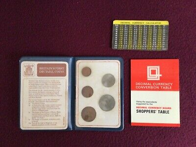 £5 • Buy 1971 Britain's First Decimal Coin Set With Conversion Table