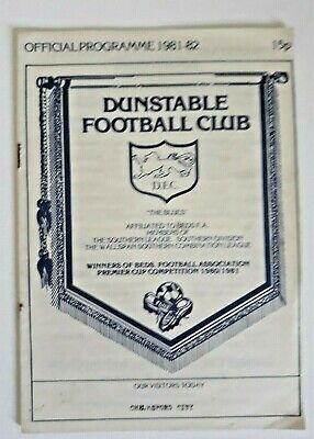 £0.80 • Buy Dunstable V Chelmsford City Southern League 1982