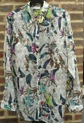 £14.99 • Buy COTSWOLD COLLECTION Semi Sheer Shirt In Tropical Flower Print UK 20