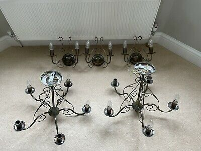 £16.50 • Buy Antique Style Brass Light Fitting For Dining Room / Lounge