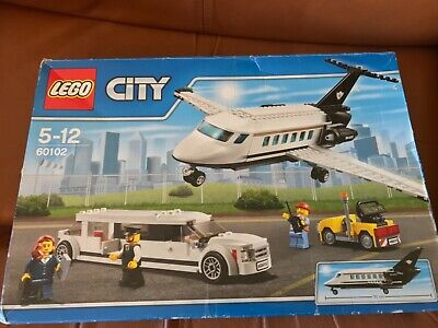 £75 • Buy LEGO CITY 60102 VIP Aeroplane Car Stretched Limousine Airport Retired Set