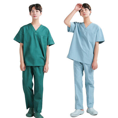 £26.39 • Buy Doctor Short Sleeve Uniform Hospital Scrub Suits Medical Workwear Tops And Pants