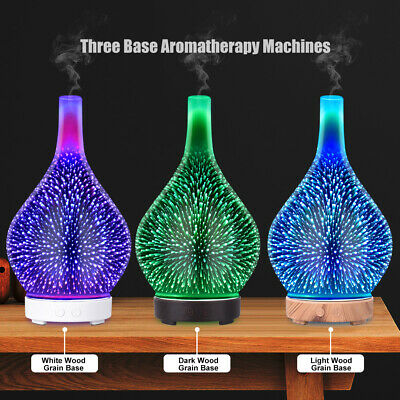 AU23.79 • Buy Aroma Aromatherapy Diffuser Humidifier 3D LED Oil Firework Essential Air Purifie
