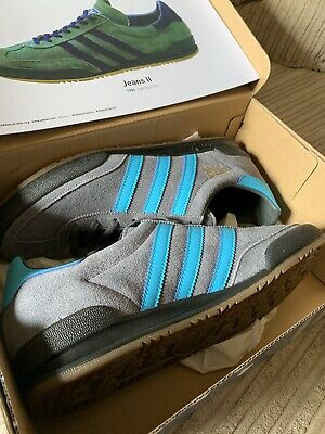 £60 • Buy Adidas Jeans Size 9.5 Brand New With Box Grey And Blue Suede