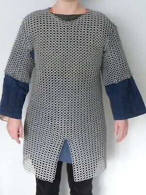 £110 • Buy Medieval Armour For Re-enactment, Hand Made Galvanised Steel Chain-mail.