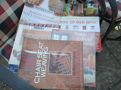 £5 • Buy 5 Crafts Books, Upholstery/chair Weaving/furnishings Etc.