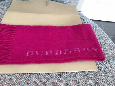 £55 • Buy Burberry Cashmere Scarf - Hot Pink 16cm X 246cm