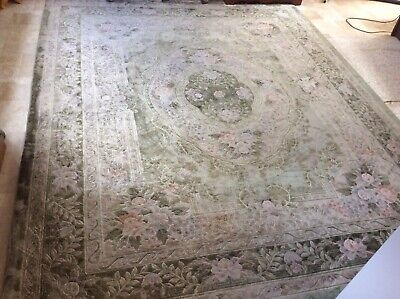 £48 • Buy Large Wool Chinese Rug Approx 10.2ft X8.16ft