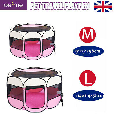 £28.79 • Buy Portable Fabric Dog Crate Cat Kitten Cage Pet Travel Carrier Puppy Playpen Tent