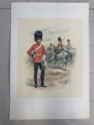 £125 • Buy Large Genuine Stadden Watercolour Of 2nd Dragoon's Royal Scots Greys