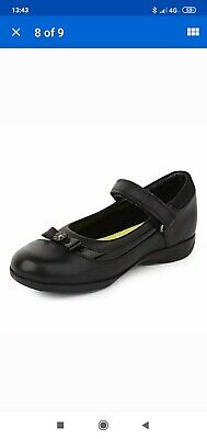 £24 • Buy Clarks Daisy Girl's Black Leather School Shoes Size 10.5 H