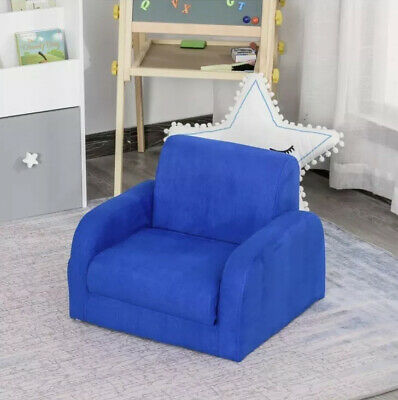 £4.99 • Buy 2 In 1 Kids Sofa Armchair Chair Fold Out Flip Baby Bed Couch Toddler Sofa Boys