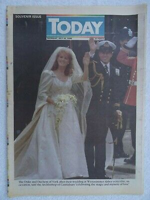 £9.95 • Buy Royal Wedding Sarah & Prince Andrew. Today Newspaper Souvenir Issue 24 July 1986