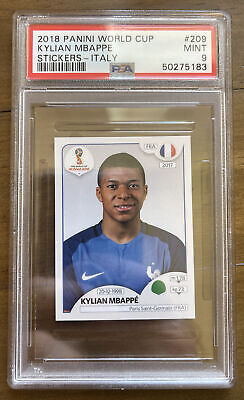 $ CDN145.75 • Buy 2018 Panini World Cup #209 Kylian Mbappe Stickers-Italy RC Rookie PSA 9 Mint