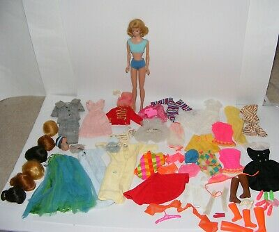 $ CDN52.23 • Buy Vintage Barbie MIDGE Doll With Wigs Clothes Swimsuits Shoes And Boots Lot