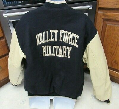 £141.59 • Buy Valley Forge Military Academy & College Varsity Jacket Men's XL Leather Sleeves