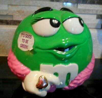 $12 • Buy Collectible  M&M Cookie/Candy  Jar  GREEN    Galerie