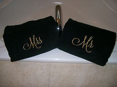 £21.30 • Buy Mr. And Mrs. Embroidered Bath Towels- Wedding Gift, Christmas Gift