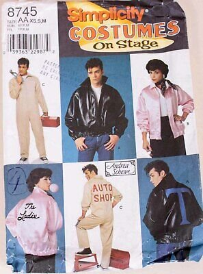 £20 • Buy Simplicity 8745 Greece The Musical Pink Lady Jacket, T Bird Leather Jacket Etc