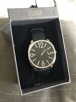 £2.99 • Buy Lovely Retro Look M&S Black And Silver Ladies Wristwatch, Brand New In Box