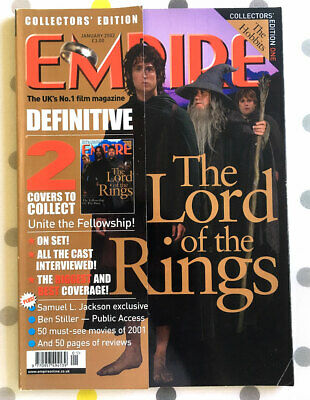 £5.25 • Buy Empire Magazine Issue 151 - January 2002 - LORD OF THE RINGS (Hobbits Cover)