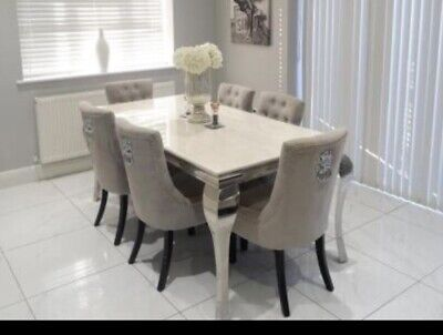 £510 • Buy Marble Dining Table And 6 Chairs Used