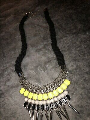 £3 • Buy Fashion Statement Necklace Piece Womens Jewellery New Look